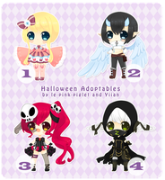 ENDS TODAY! OPEN : Halloween Collab Adopts by Yiian