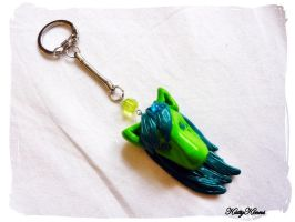 Forest Green Pony Keychain by Cateaclysmic