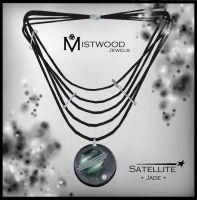 Satellite - unisex necklace Jade version by Aedil