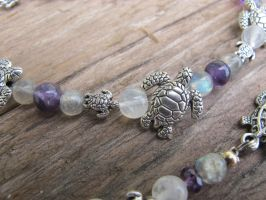 Silver and Shell Turtle Set Closeup 2 by Windthin