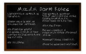 Mazdak Dorm Rules by eldendgha