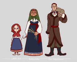Little Red Riding Hood: characters by K-mee