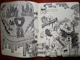 Doodle drawing in moleskin. by DoodleBros