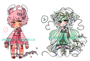 Bouquet: Set Price Adopts (SOLD) by DeadmanJackalope