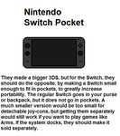 Nintendo Switch Pocket idea by FluffyFerret97