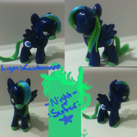 Custom Commission - Night Surfer! by FireflyLC