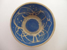 Ceramic Blue and Copper Bowl by panhead121