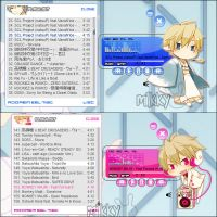 Preview : Shizuo winamp skins by milkkybunny
