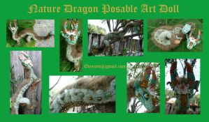 Nature Dragon Posable Doll by Eviecats