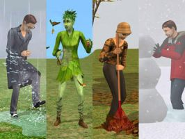 Seasons in The Sims 2 by x-pl