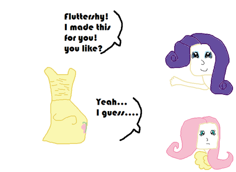 Rarity and Fluttershy as humans by Anggiemlplove