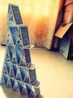 Card tower by Laura-in-china