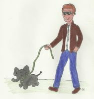 John and His Puppy-sized Elephant by TheSimpsonsFanGirl