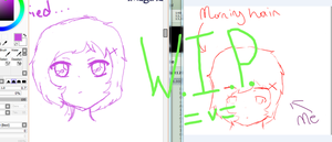 W.I.P. : Double Meme with Sarah by Moonylight12