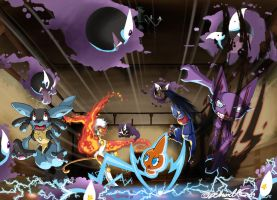 Brawl of Old Chateau by TamarinFrog