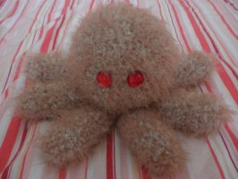 fuzzy brown squid by PinkuArt