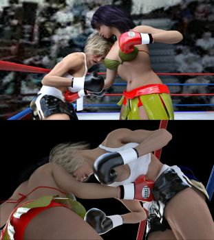 Guadalupe vs Marilyn 18 by bx2000b