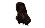 MMD Long Thick Brown Hair DL by 2234083174