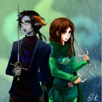 Cedric and Kiah - Homestuck OCs by MelindaPhantomhive