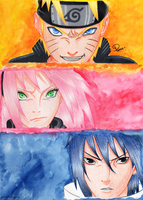 Team 7 | Naruto Shippuden by eternalxgyu