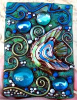 Dichroic Glass Fish ACEO by MandarinMoon