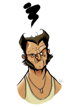 Wolverine Caricature by Tlenon
