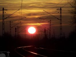 Railroad to the sunset by morpheus880223