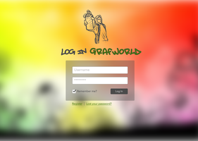 Wordpress login (Grafworld) by xaviermartinezf