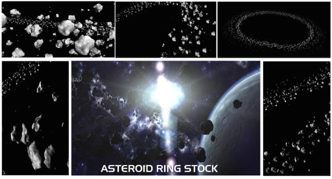 Asteroid Ring Stock Pack by Euderion