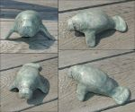 sculpy manatee by gharial42