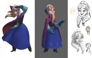 Disney Infinity Anna designs by Artsammich