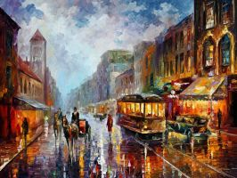 Los Angeles 1905 by Leonid Afremov by Leonidafremov