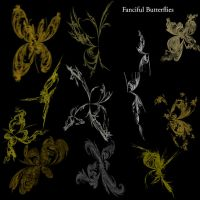 Fanciful Butterfly Brushes by MarielFoster