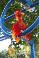 Yarnbombing Challenge- A Perch in the Park by rdekroon