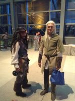 Captain Jack Sparrow and Legolas by Koragg1