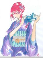 Girl with tea-tray by Healing-Shuriken