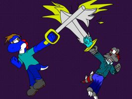 Keyblader And Sword Wilder By Dougfluff345 by gamerpainter