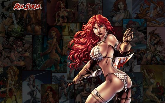 Red Sonja Wallpaper High Res 02 by squint583