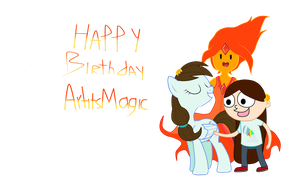 HAPPY BIRTHDAY ArtItsMagic! by Axcell1ben