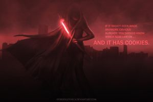 Sith Cookie. by hybridgothica