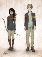 Katniss and Peeta by Kayla-Noel