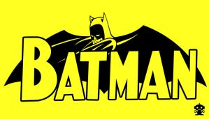 1957 Batman Comic Title Logo by HappyBirthdayRoboto