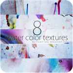 8x water color textures by frozen-roos