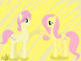 Butterscoch and Fluttershy (colored version) by AntonellaX100