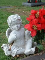 winter Cemetary angel 2 by JensStockCollection