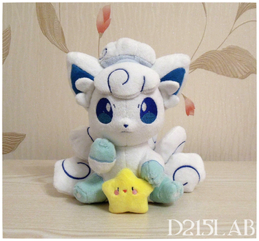 Alola Vulpix Plush by d215lab