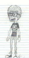 Me in Jhonen Vasquez Style XD by CrashyBandicoot