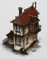 speedpaint: simple house by Kano-kun
