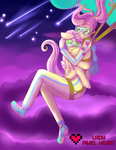 Human and Pone Flutters Skydiving Commission by ladypixelheart