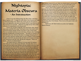 Materia Obscura - An Introduction by Anthro7